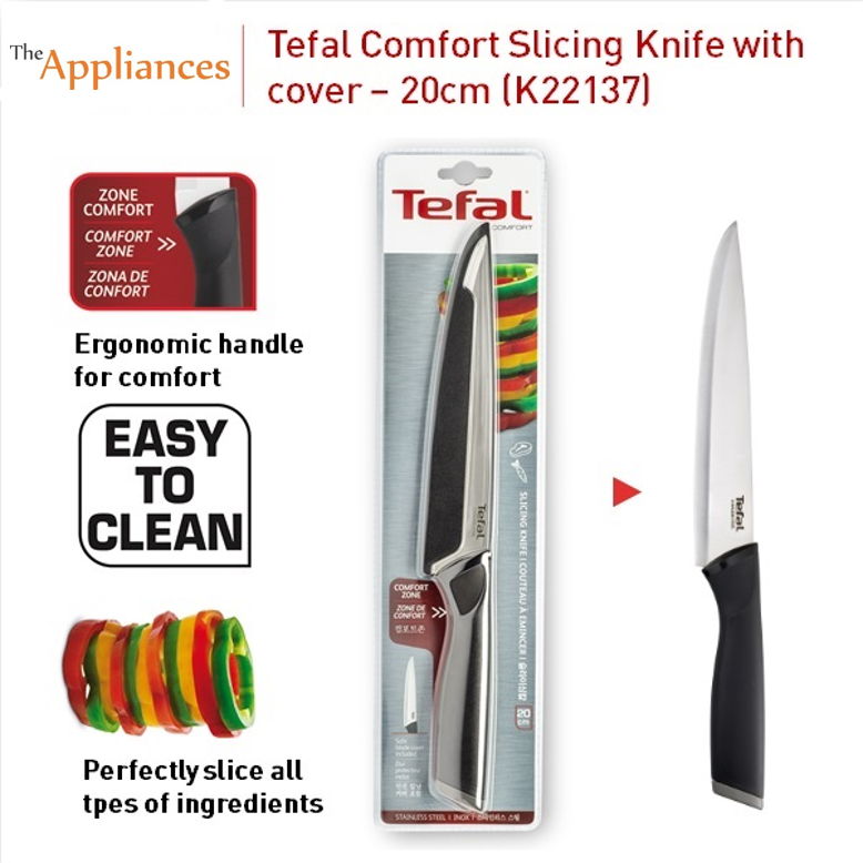 Tefal Comfort Slicing Knife With Cover (20cm)