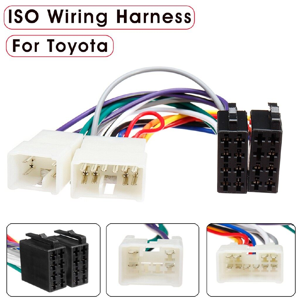 Car Radios - Car Stereo Radio ISO Wiring Harness Plug Loom Adaptor Connector Cable For Toyota AutoP - Electronics