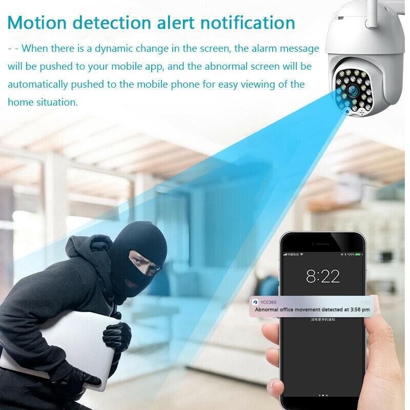 1080P HD IP CCTV Camera Outdoor Waterproof 2.4G WiFi PTZ Security WIRELESS IR Camera Night Vision