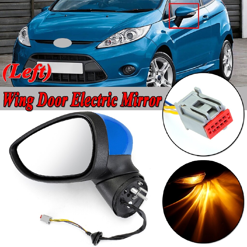 Automotive Tools & Equipment - For Ford Fiesta MK7 2008-2012 Electric Wing Door Mirror LH Left Painted Blue - Car Replacement Parts