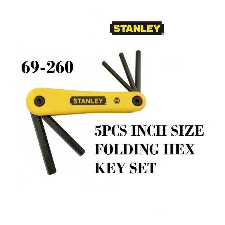 Stanley 5Pcs Inches Folding Allen Key Hex Key Set L Wrench Driver 69260