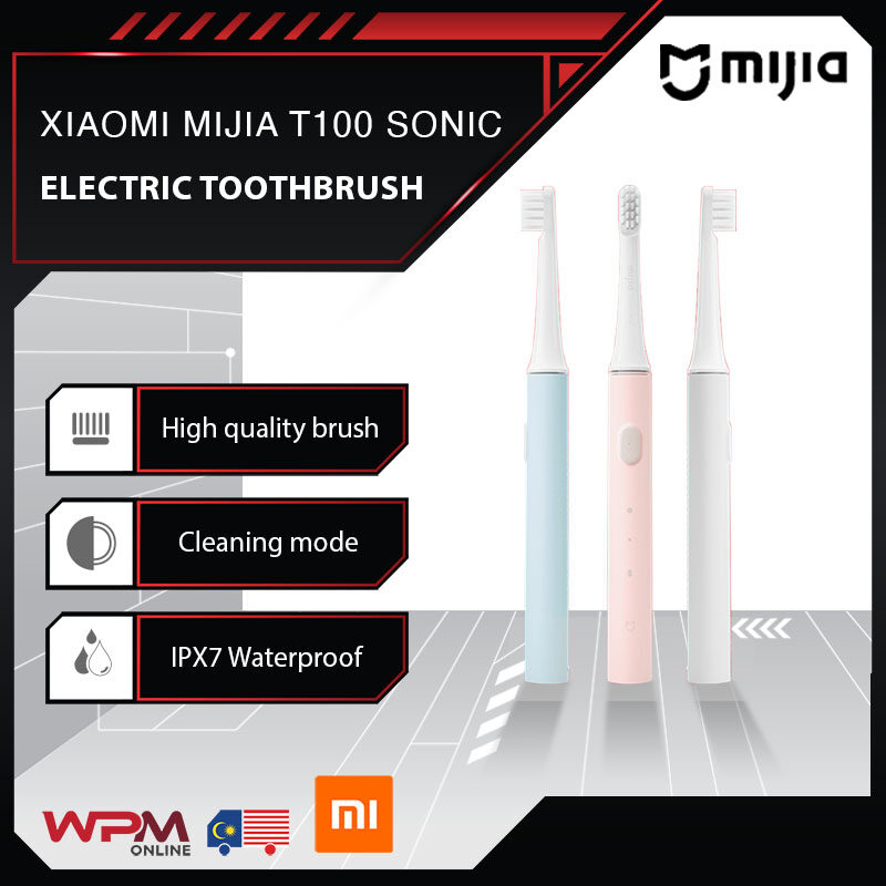 【For Children Use】Xiaomi Mijia T100 Waterproof IPX7 Electric Sonic Automatic USB Rechargeable Toothbrush Two-speed Cleaning Mode Tooth Brush Children Toothbrush