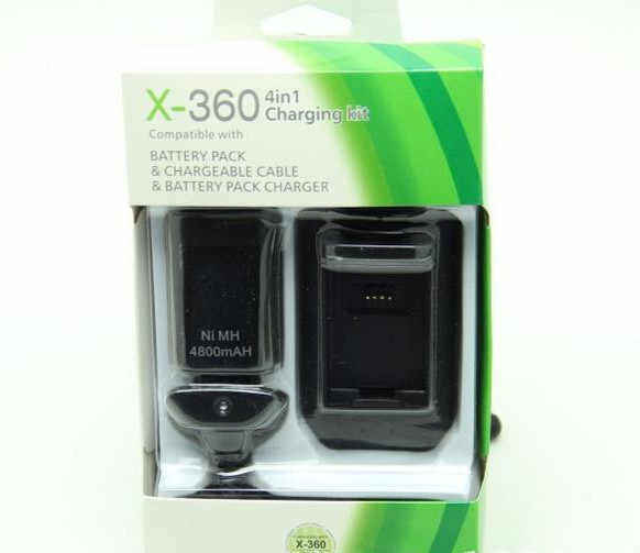 Xbox 360 4 In 1 4800Mah Battery Pack And Charging Kit For Xbox 360 Controller