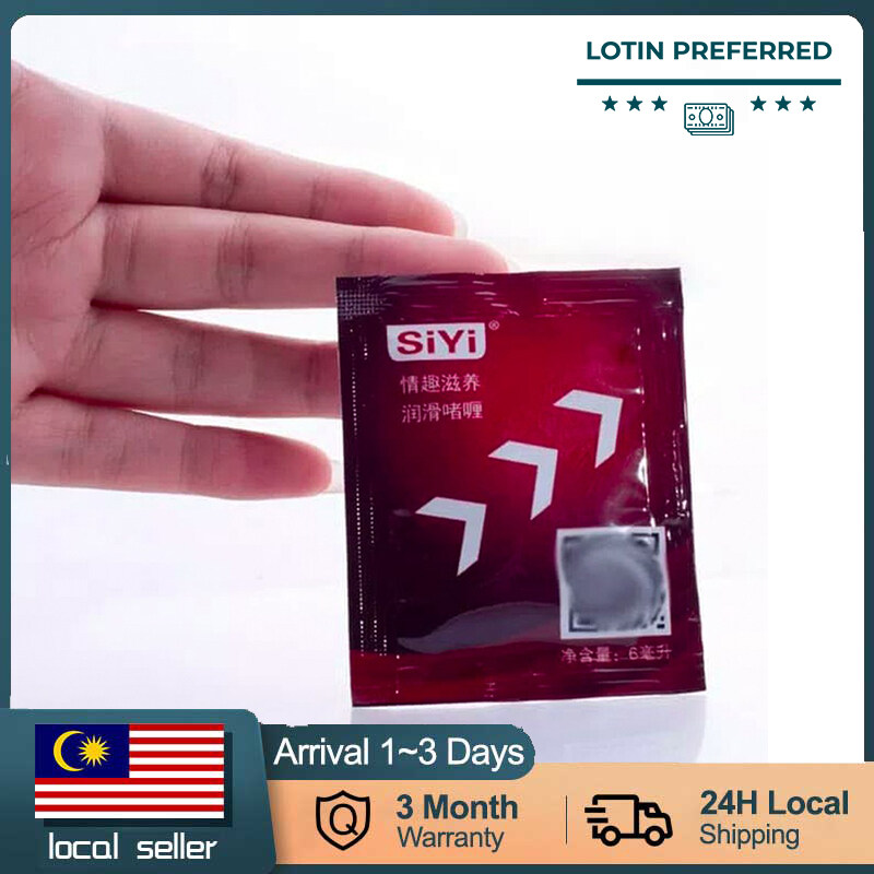 [READY STOCK] Packet Lubricant 6ml/pack Lubricant Oil Sex Water Based Body Massage Sex Toy Original Male Female Antibacterial Adult Sex/Sensual Lubricant  lubricant gel pelincir sex gel halal lube sex lubrication lubricants sex oil lubricant water based