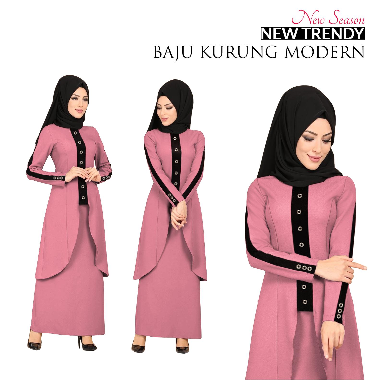 Price List New Season Trendy Baju Kurung Modern for Muslimah Terbaik