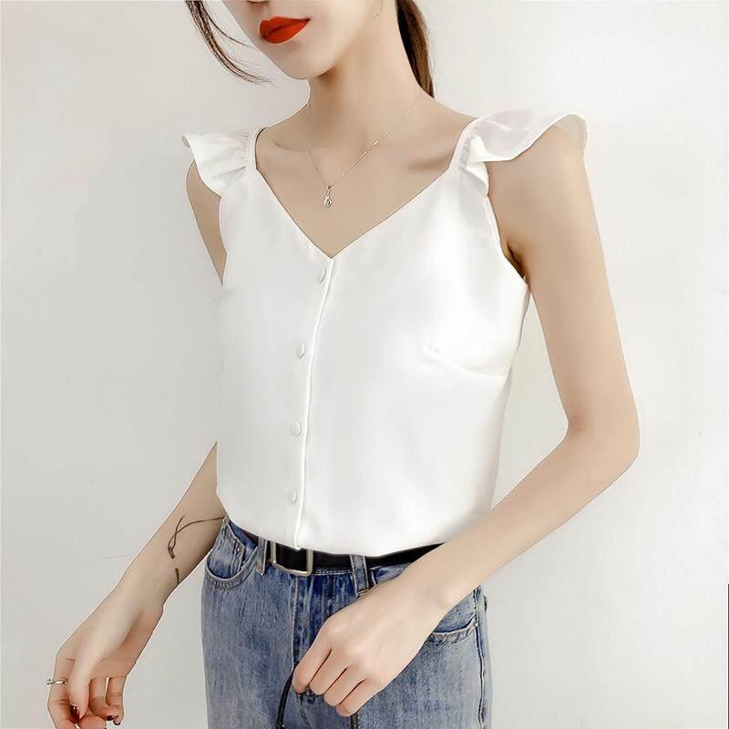 (Pre Order14 Days JYS Fashion Korean Style Women Chiffon top Collection 521- 8034col521-8034--White-S