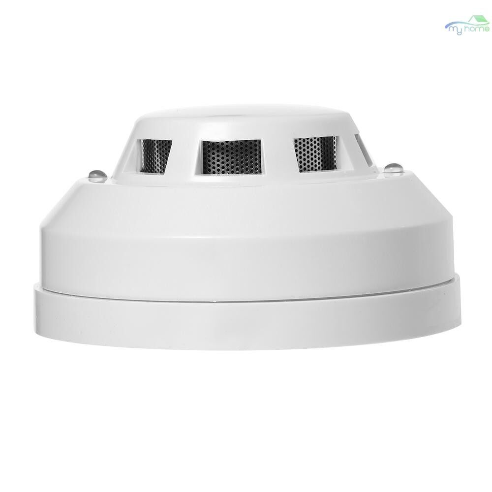 Security Cameras & Systems - Wired Photoelectric Smoke Detector High Sensitive Smoke Alarm Sensor Fire Alert Protection Anti - WHITE