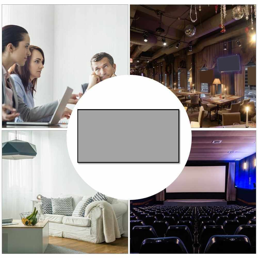 Folding Metal Layer Light Resistant Projector Screen Portable Movie Reflective Screen (120inch, 16:9) (10)
