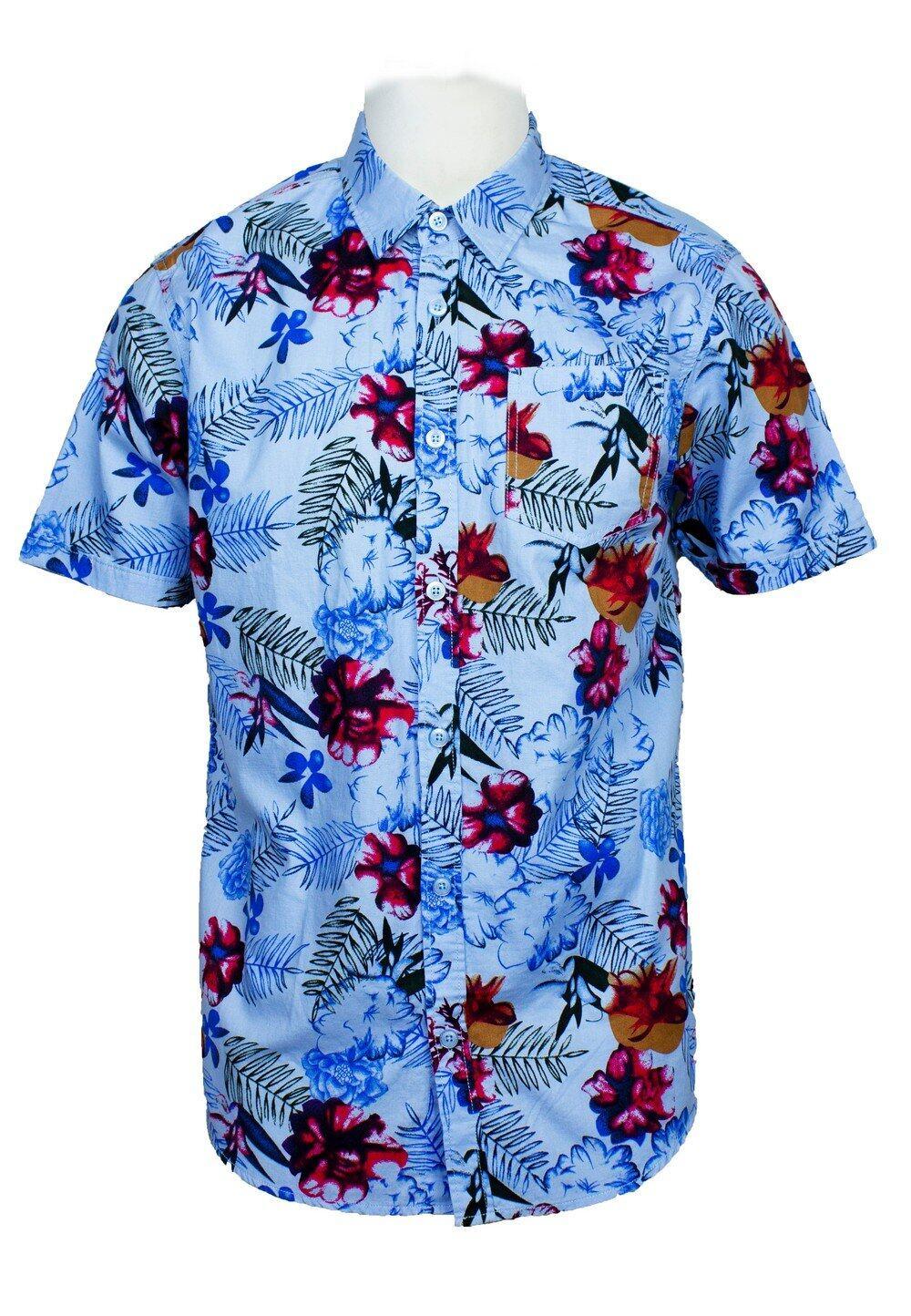 Short Sleeve Shirt with Flower Print-810