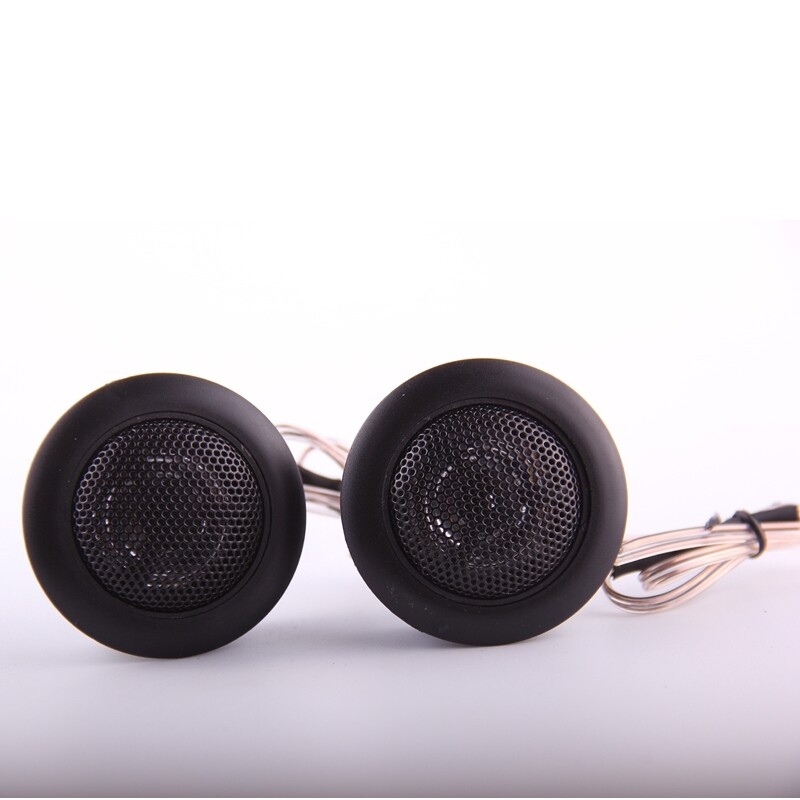 On-Ear Headphones - 2 PIECE(s) 4 Ohm Round Speaker Car Audio Tweeter Film Bass Hifi Loudspeaker - BLACK