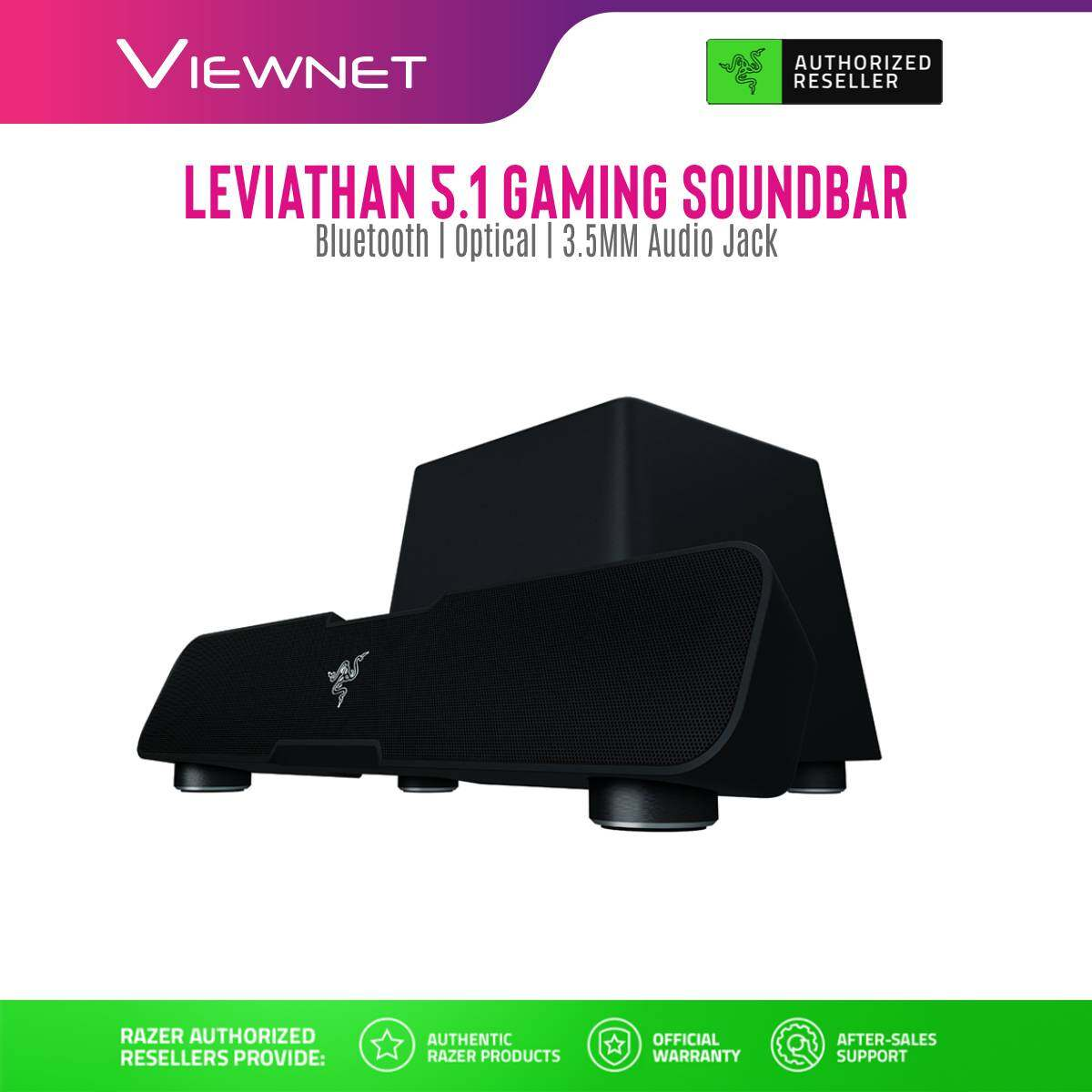Razer 5.1 Leviathan Sound Bar (RZ05-01260100-R3A1), Black, With Subwoofer, Wireless, Bluetooth, Speaker