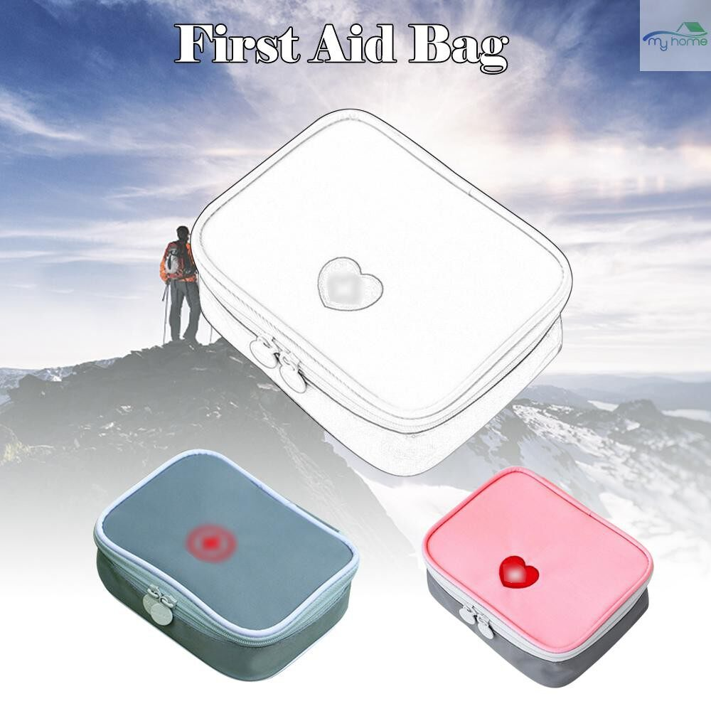 Security & Surveillance - PORTABLE MINI First Aid Kit Multifunctional Medicine Bag Storage Bag Empty Medicine Pouch for - GREY / PINK