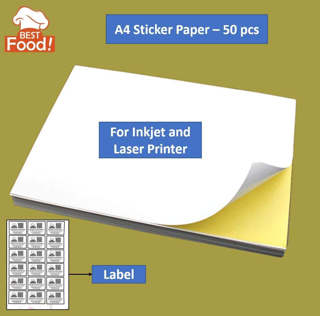 A4 Sticker Paper / Label Paper / Kertas Pelekat - 50 / 100 pcs