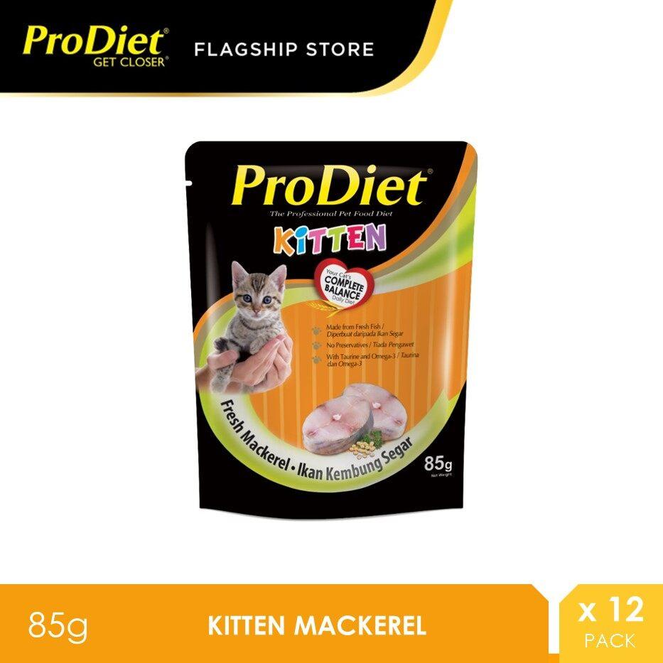 ProDiet 85G Kitten Mackerel Wet Cat Food X 12 Packs