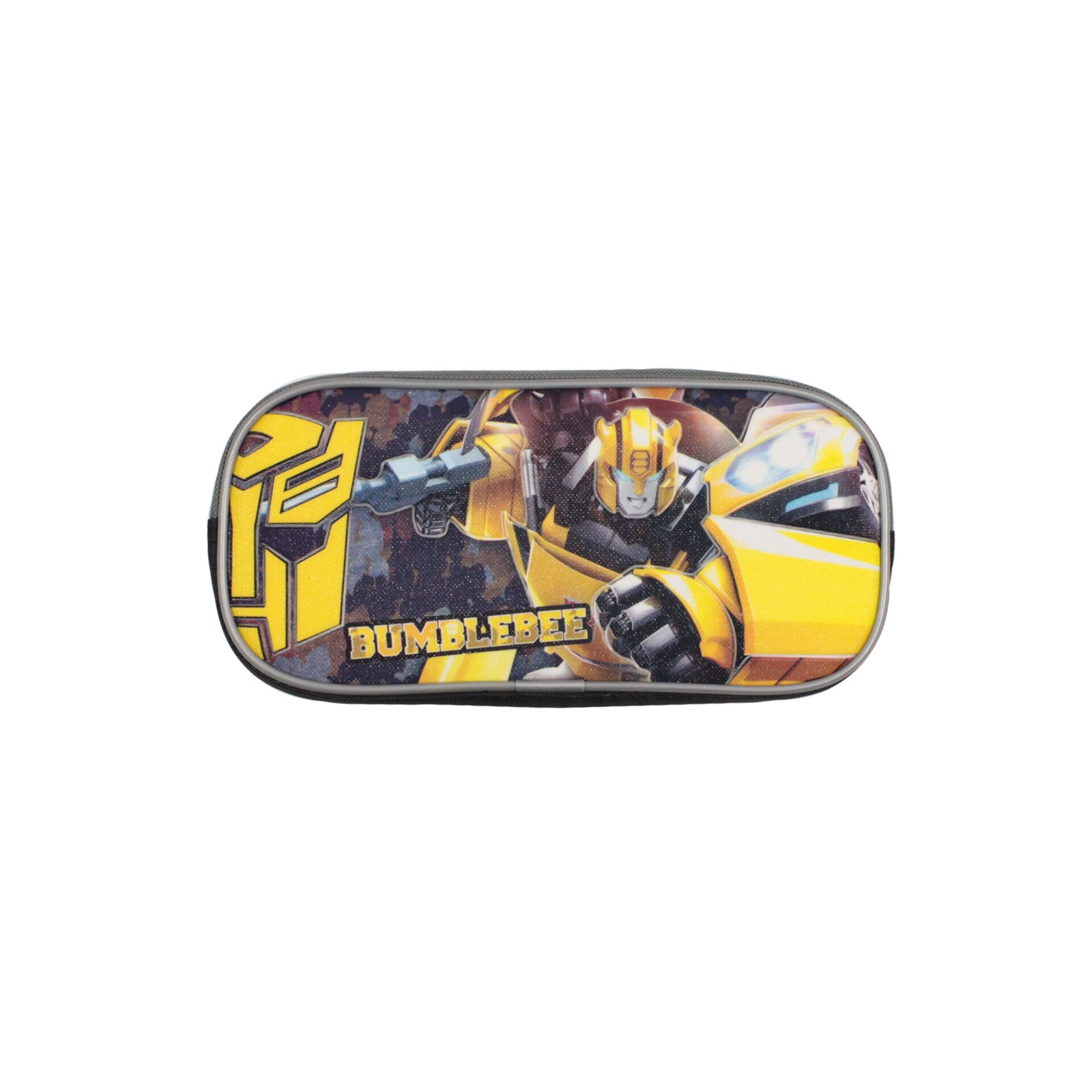 Transformers Bumblebee Children School Stationery Single Zip Pencil Case With Handle