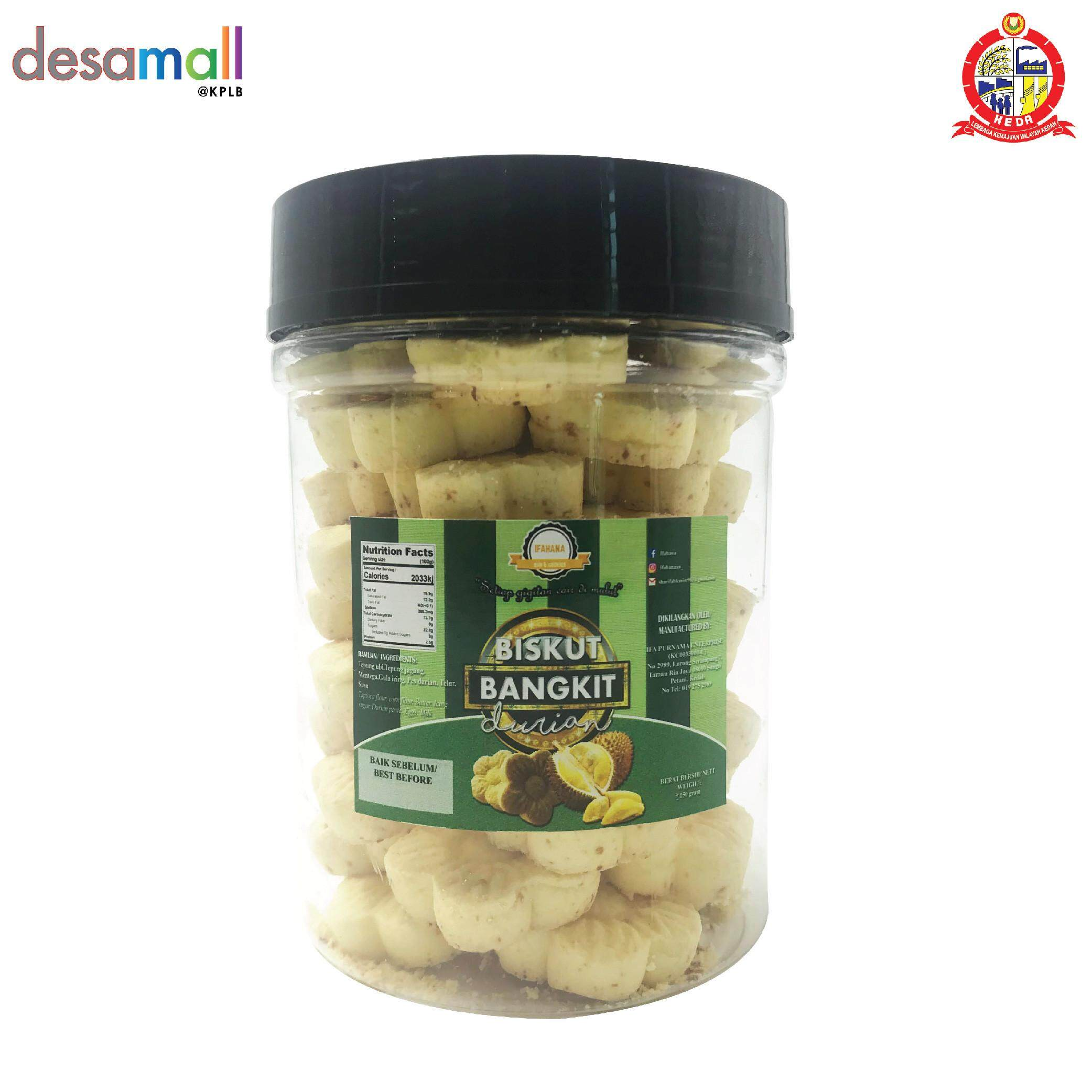 IFAHANA Bangkit Cheese Durian in Cylinder Container (48Pcs)