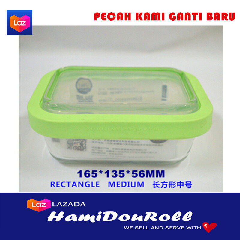 {READY STOCK} Imported Tempered Glass Crisper Refrigerator Microwave Oven Bento Container Lunch Box Round Shape Small ????????????? TGlassRoundSmall