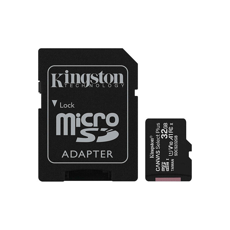 Kingston Canvas Select Plus Micro SD memory Card SDCS2 Series (16GB / 32GB / 64GB / 128GB) with Class 10 USH-1, 100MB/s Read, Durable, Optimised  For Use with Android Devices
