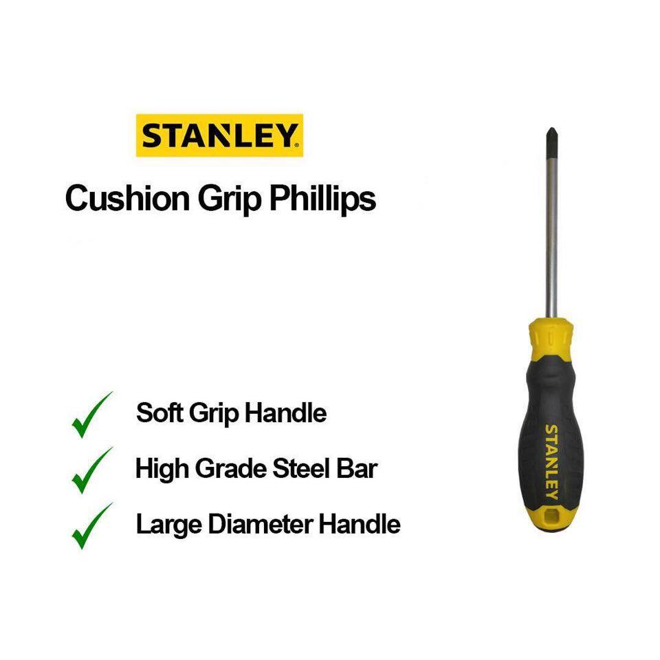 Stanley C/Grip S/Driver PH0 x 100MM - PH3 x 200MM