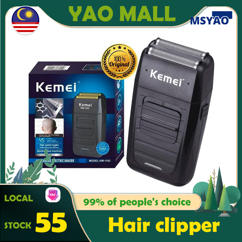 【READY STOCK】 KEMEI KM-1102 Cordless Razor Men's Face Care Shaver Shaver for Men Shaving Machine Hair Trimmer for Men Hair Clipper Hair trimmer Shaver 电动男士剃须刀