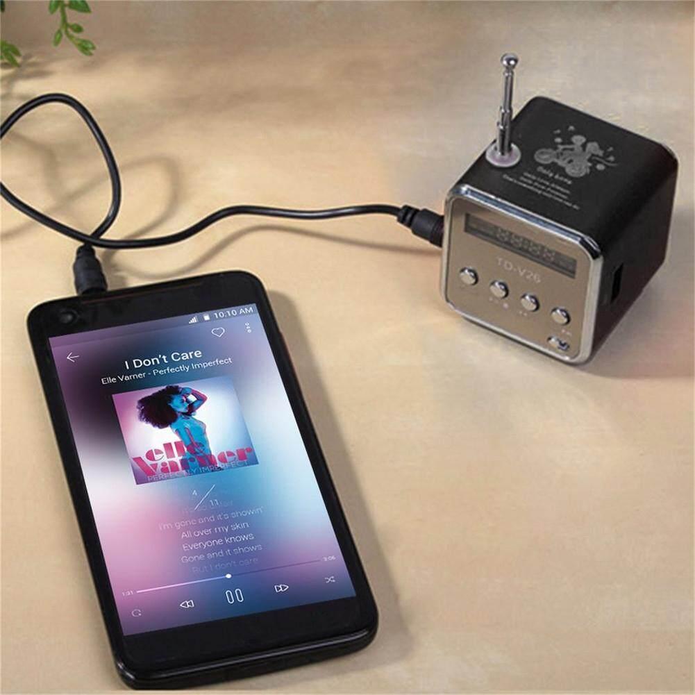 (Ready Stock) Portable Mini FM Radio Speaker USB Speaker MP3 Music Player Audio Support SD Card USB Flash Drive USB Thumb drive Rechargeable Speaker