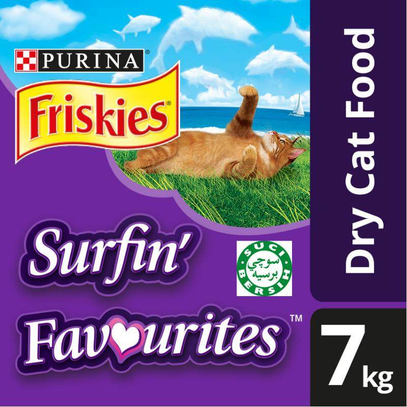 Friskies Surfin' Favourites Dry Cat Food Pack (1 x 7kg) - Pet Food/ Dry Food/ Cat Food/ Makanan Kucing