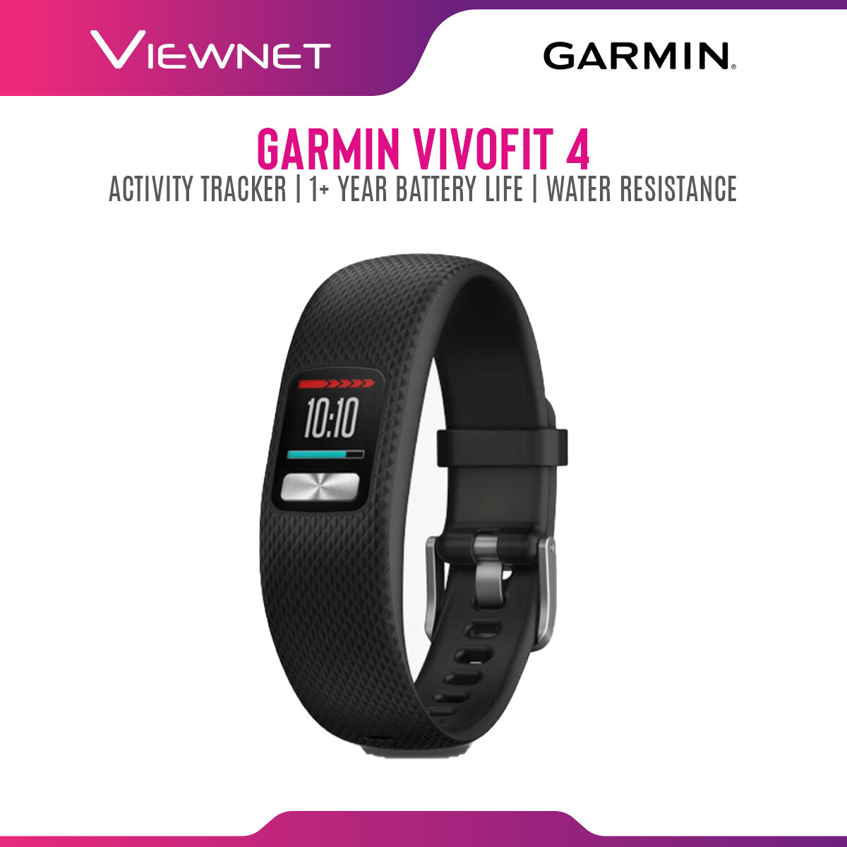 GARMIN VIVOFIT 4 ACTIVITY TRACKER WITH 1+YEAR BATTERY LIFE (010-01847-20) - BLACK