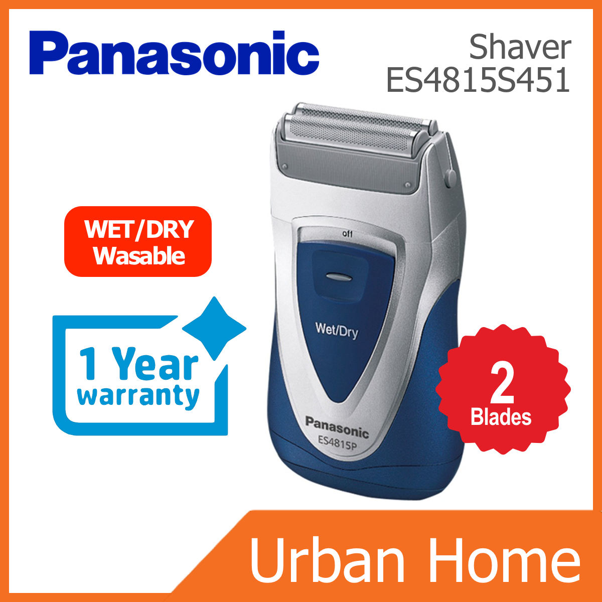 PANASONIC Wet/Dry Washable Compact Shaver (ES4815S451/ES4815)