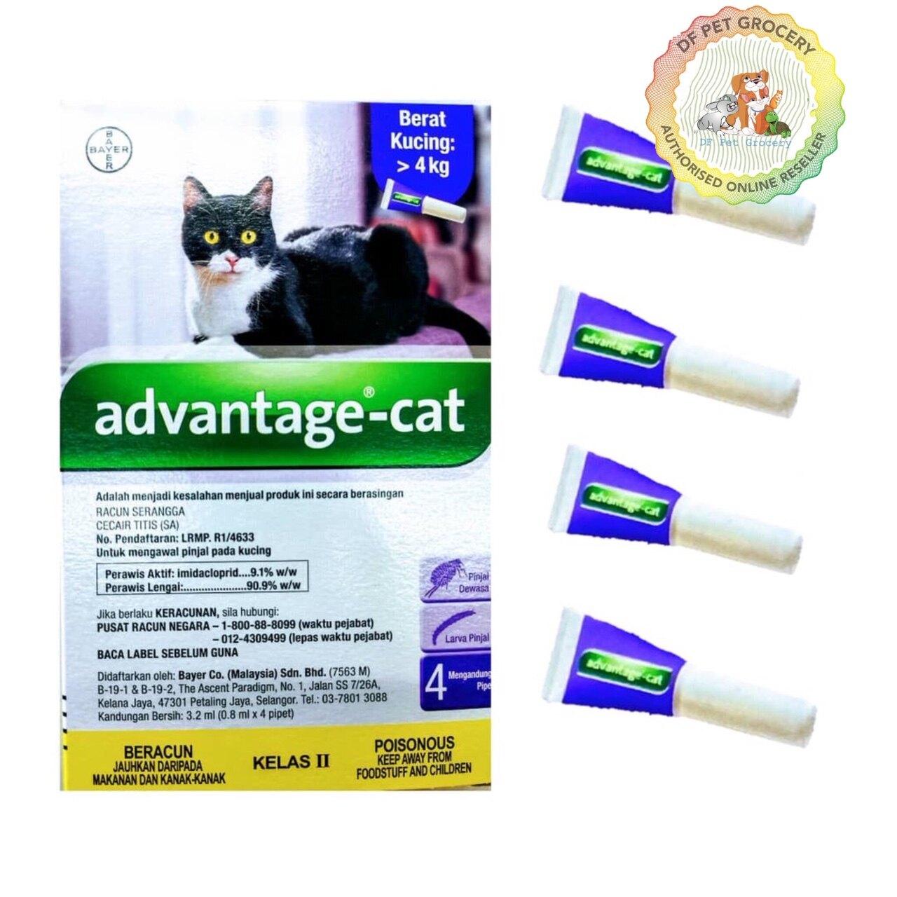 Advantage Cat 0.8ml x 4pcs-Cat Flea, Lice & Tick Control