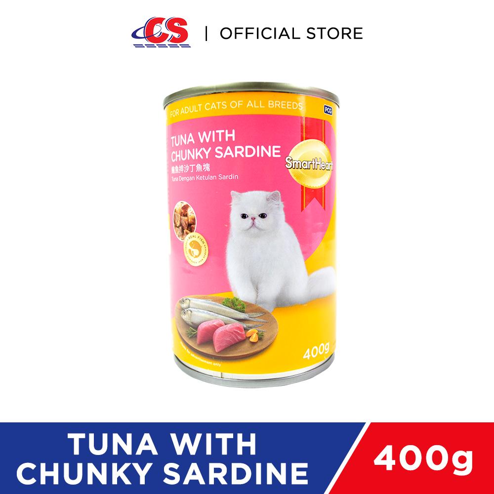 SMARTHEART Cat Tuna with Chunky Sardine 400g