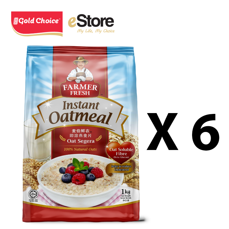 FARMER FRESH Oatmeal Instant - 1kg X 6 Packs [Oat]