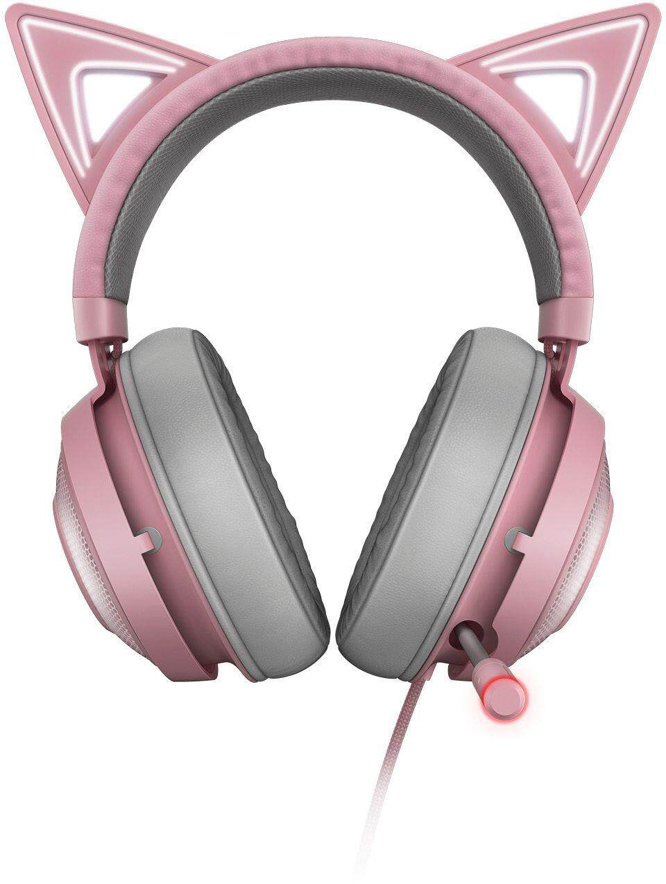 Razer Kraken Kitty Edition Wired USB Gaming Headset (RZ04-02980200-R3M1), Quartz Pink, THX Spartial Audio, Cooling-Gel Ear Cushions, Light, Durable Build, Active Noise-Canceling Microphone