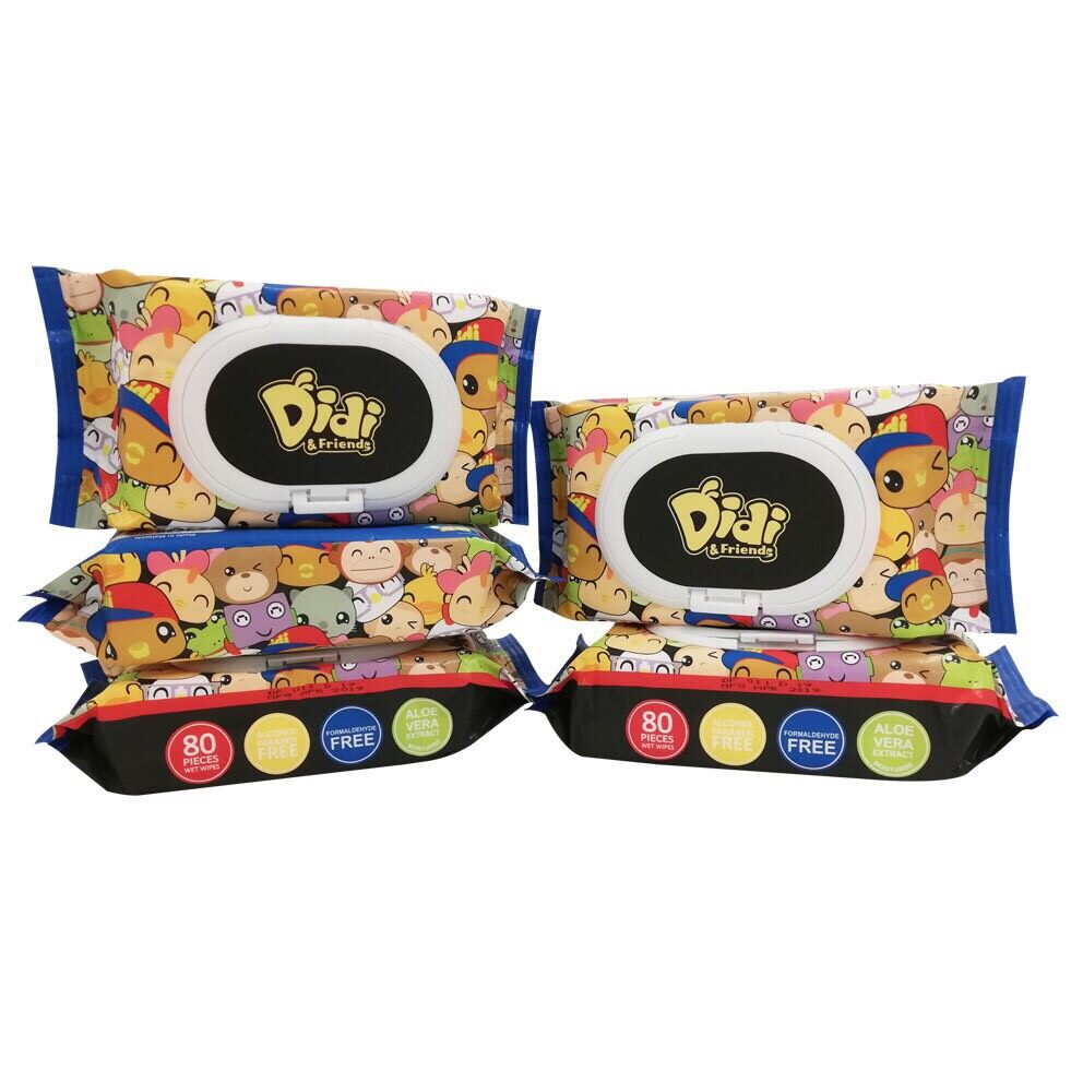 Didi & Friends 80's Baby Wipes x 4 packs [mfg:04/2019]