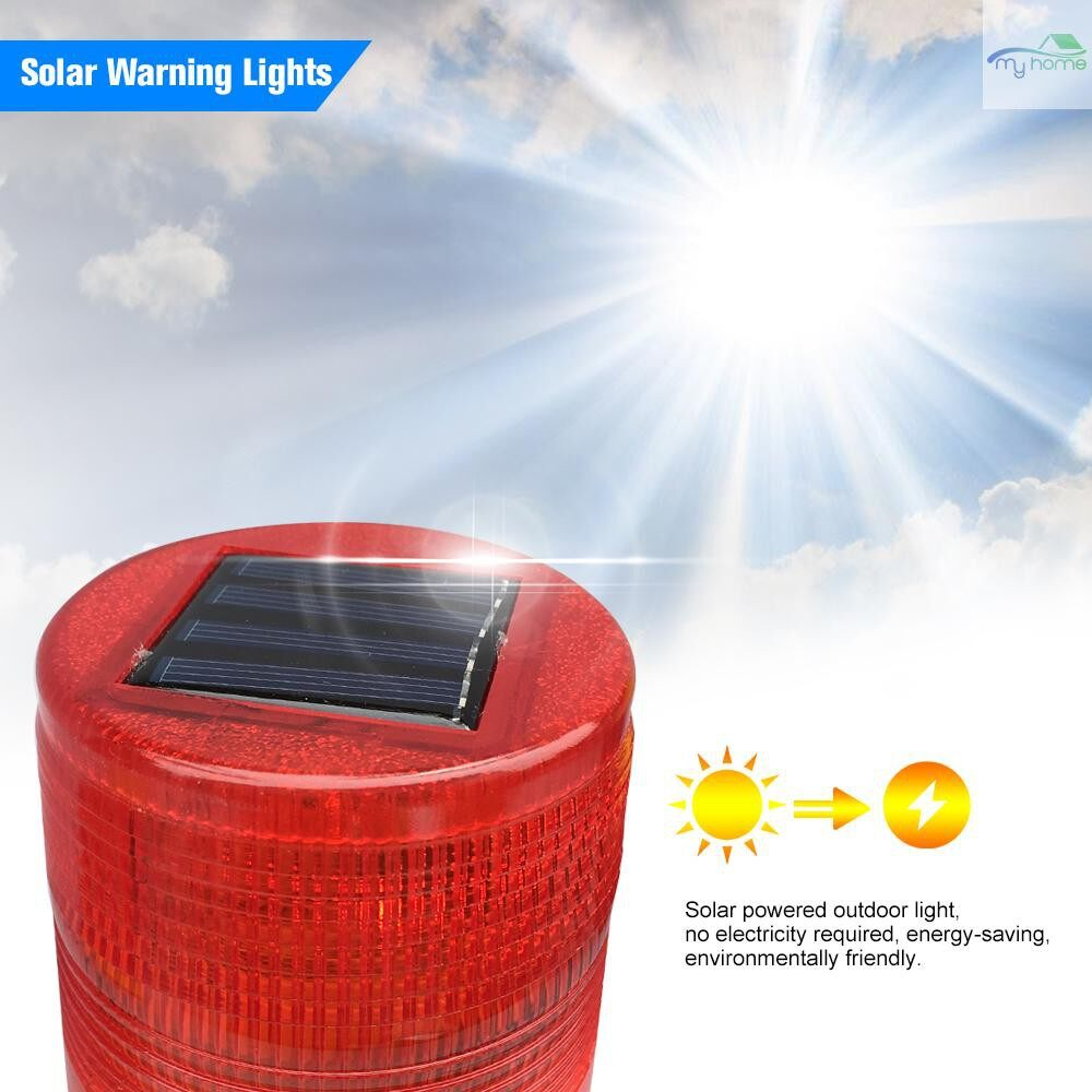 Lighting Fixtures & Components - Solar Warning Lights 3 PIECE(s) Leds Red Solar-powered Warning Lamps Obstruction Lamp/ Beacon Light/ - RED&YELLOW