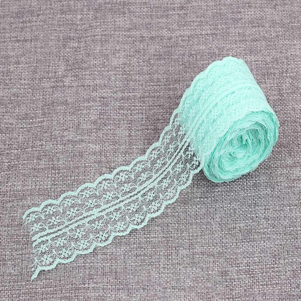 Lace Roll Lace Ribbon Vintage Style Scalloped Edge Lace Ribbon DIY Bridal Wedding Decoration Crafts (Mint Green)