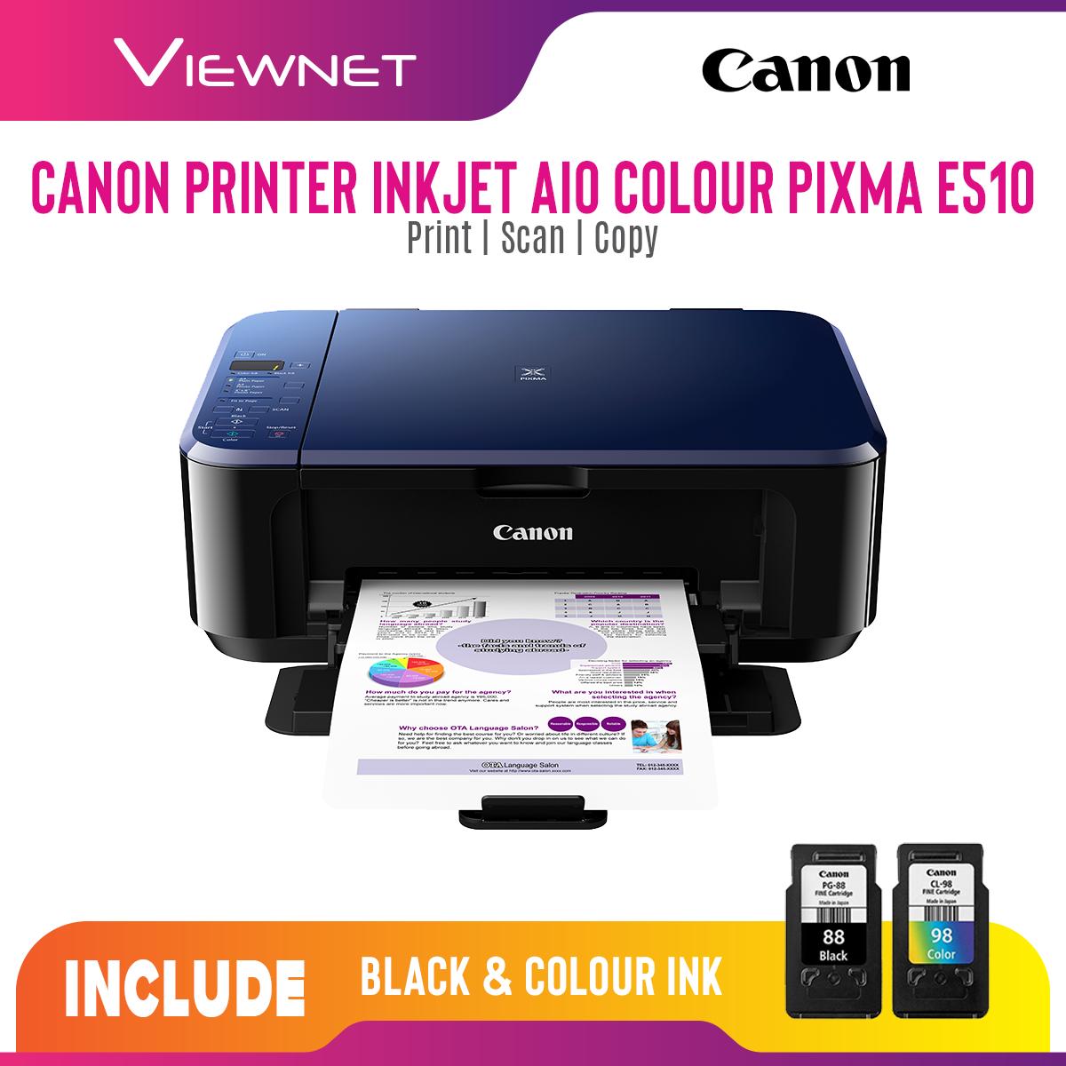 Canon InkJet AIO Colour PIXMA E510 Printer (Print/Scan/Copy)