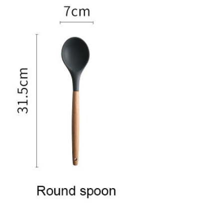 Silicone Spatula Heat-resistant Soup Spoon Non-stick Cooking Shovel Colander Kitchen Tools Cookware Tool Safety