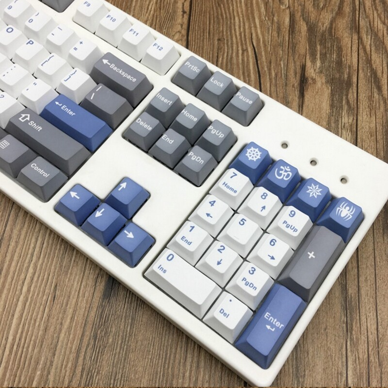 Keyboards - for Mechanical Keyboard Siberian Five - Sided PBT Thermal Sublimation Cherry Profile - Computer Accessories