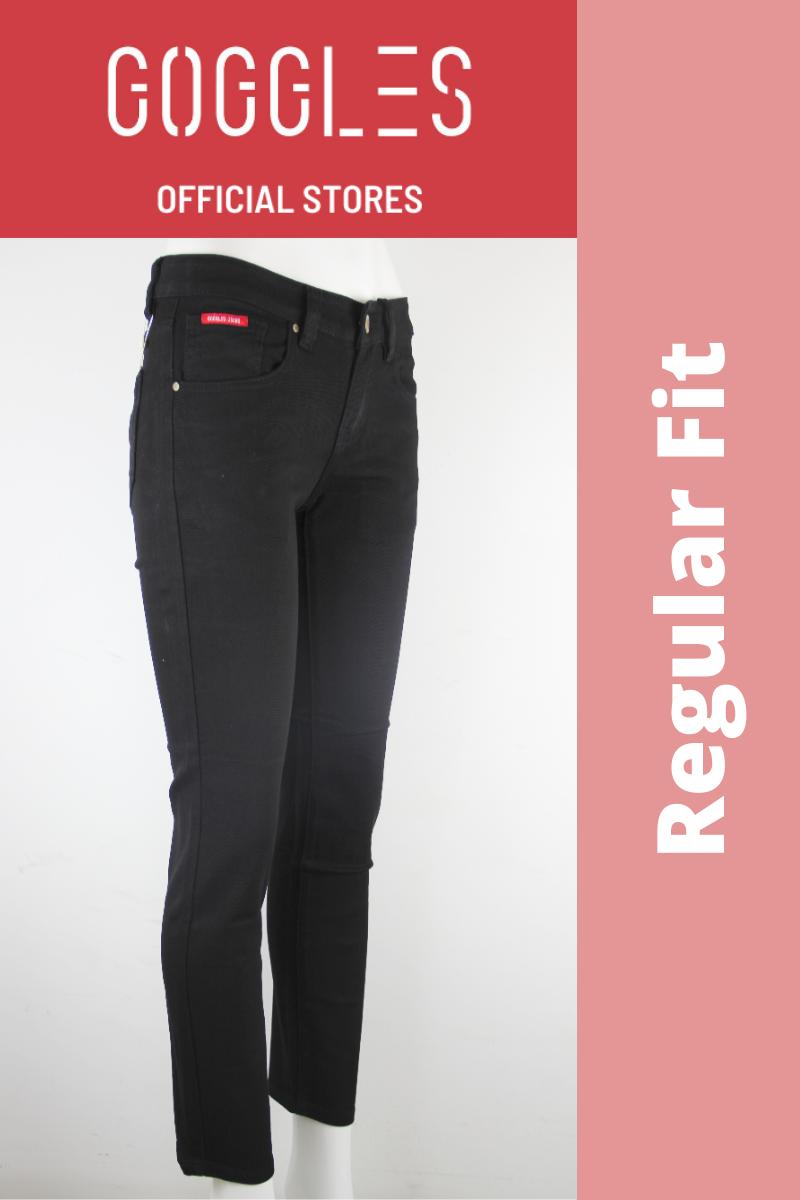 GOGGLES Ladies Denim Women Jeans Regular Fit Black 100364