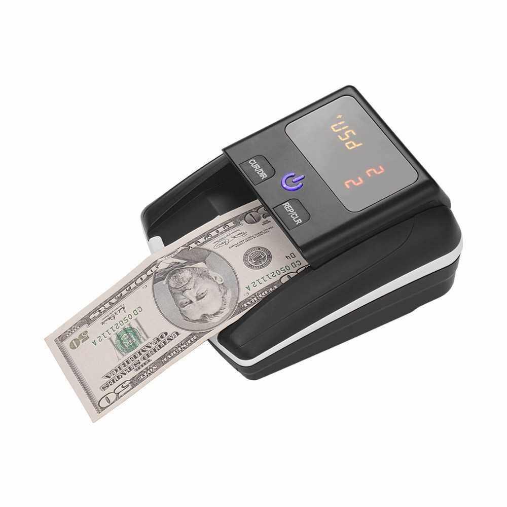 Portable Small Banknote Bill Detector Denomination Value Counter (Us Plug)