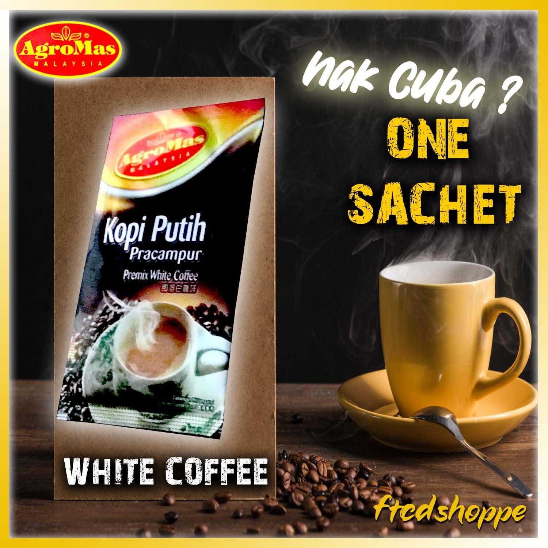 Nak Cuba? 1x Sachet AGROMAS White Coffee ( 3 in 1 )