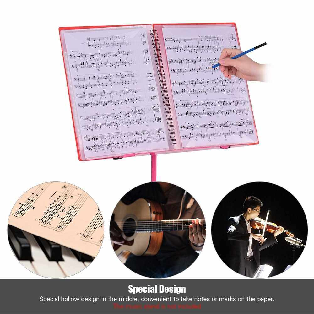 Best Selling A4 Sized Spiral-Bound Music Folder for Sheet Music Writable Band Folders File Paper Storage 60 Pages Orange (Orange)