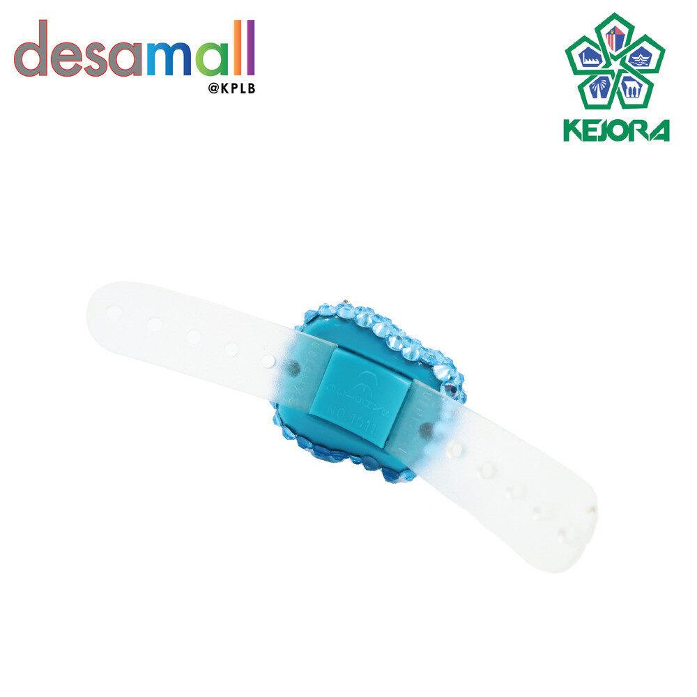 ELLE KIRANA HIJABS Tasbih Digital Viral - Batu Kristal 99% Copy Swarovski SS16 - Finger Counter (Aqua blue)