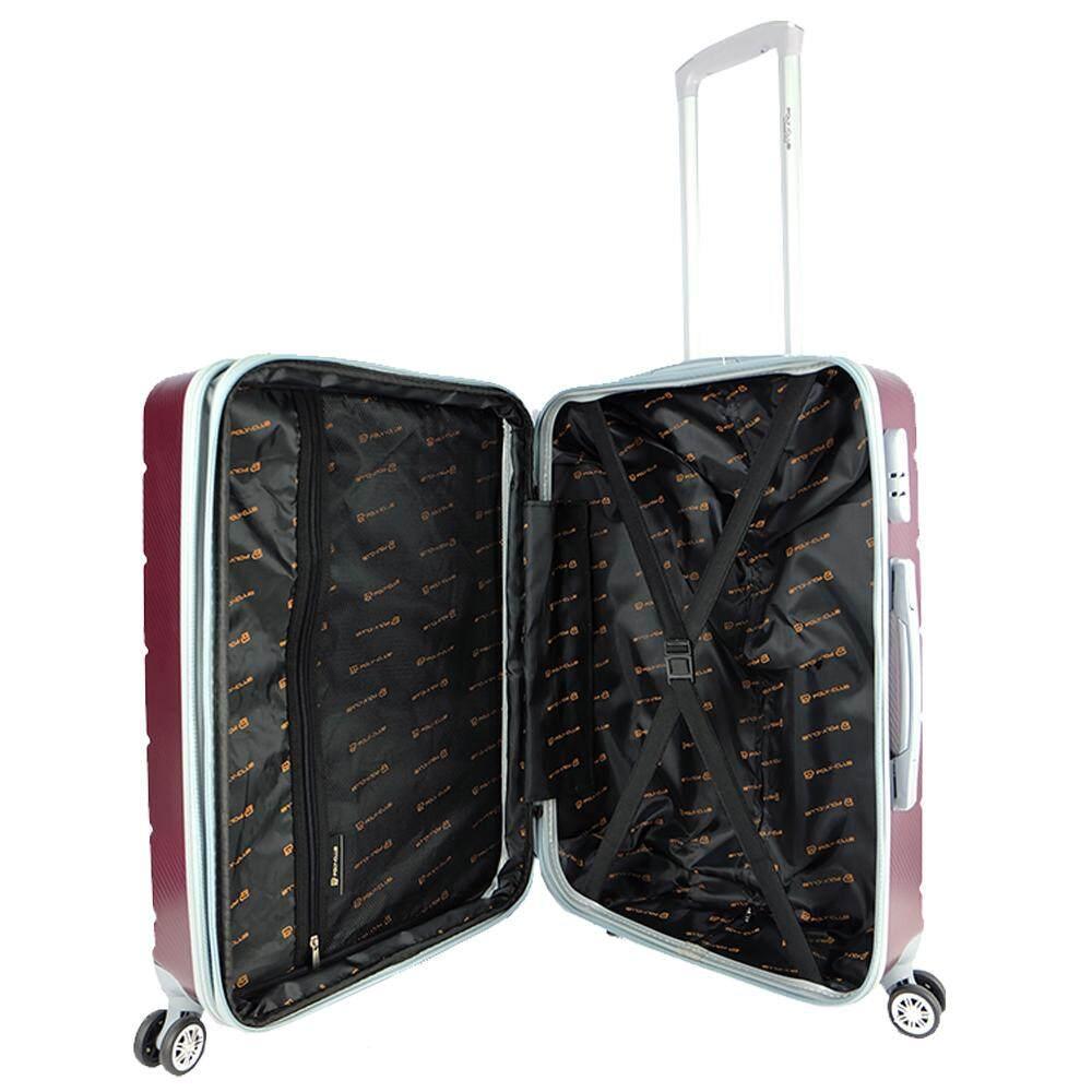 Poly-Club BA1987 24inch 4W ABS Hard Case Luggage with Anti-Theft Zipper