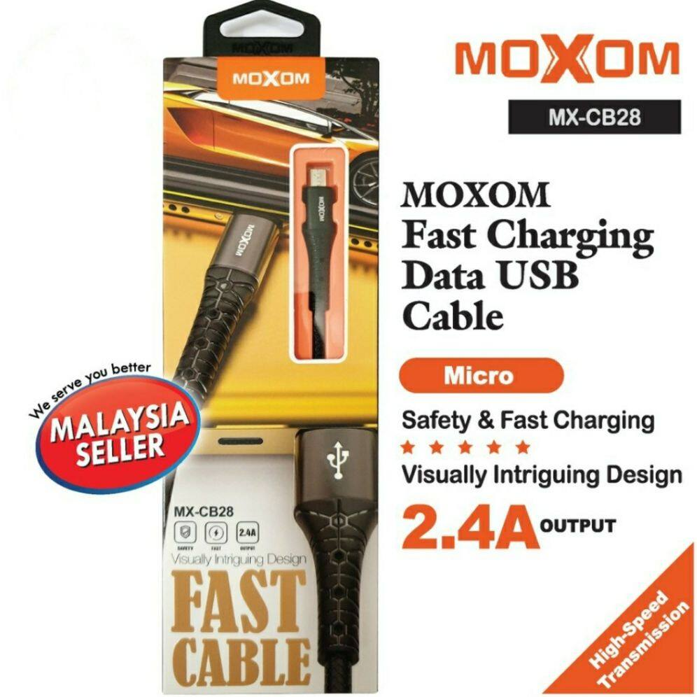 MOXOM MX-CB28 100% ORIGINAL HIGH SPEED USB DATA CABLE / IOS IPHONE / MICRO ANDROID / TYPE C