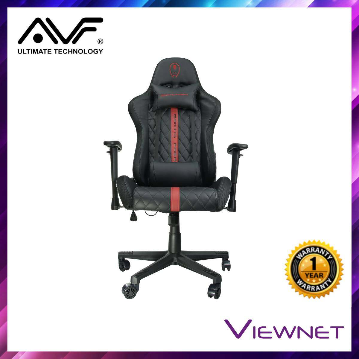 AVF Cosmic Throne RGB Light Black/Red Gaming Chair (GCCMT10-BR)