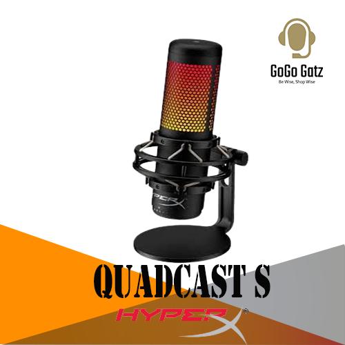 {HMIQ1S-XX-RG/G}{Ship Out Within 24 Hours}HyperX Quadcast S RGB Lighting USB Gaming Microphone