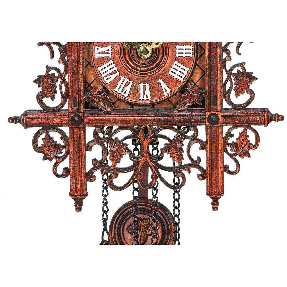 Clocks - 1 PIECE(s) Retro Vintage Wood Cuckoo Wall Clock Hanging Handcraft for Living Room Hom - 2 / 1
