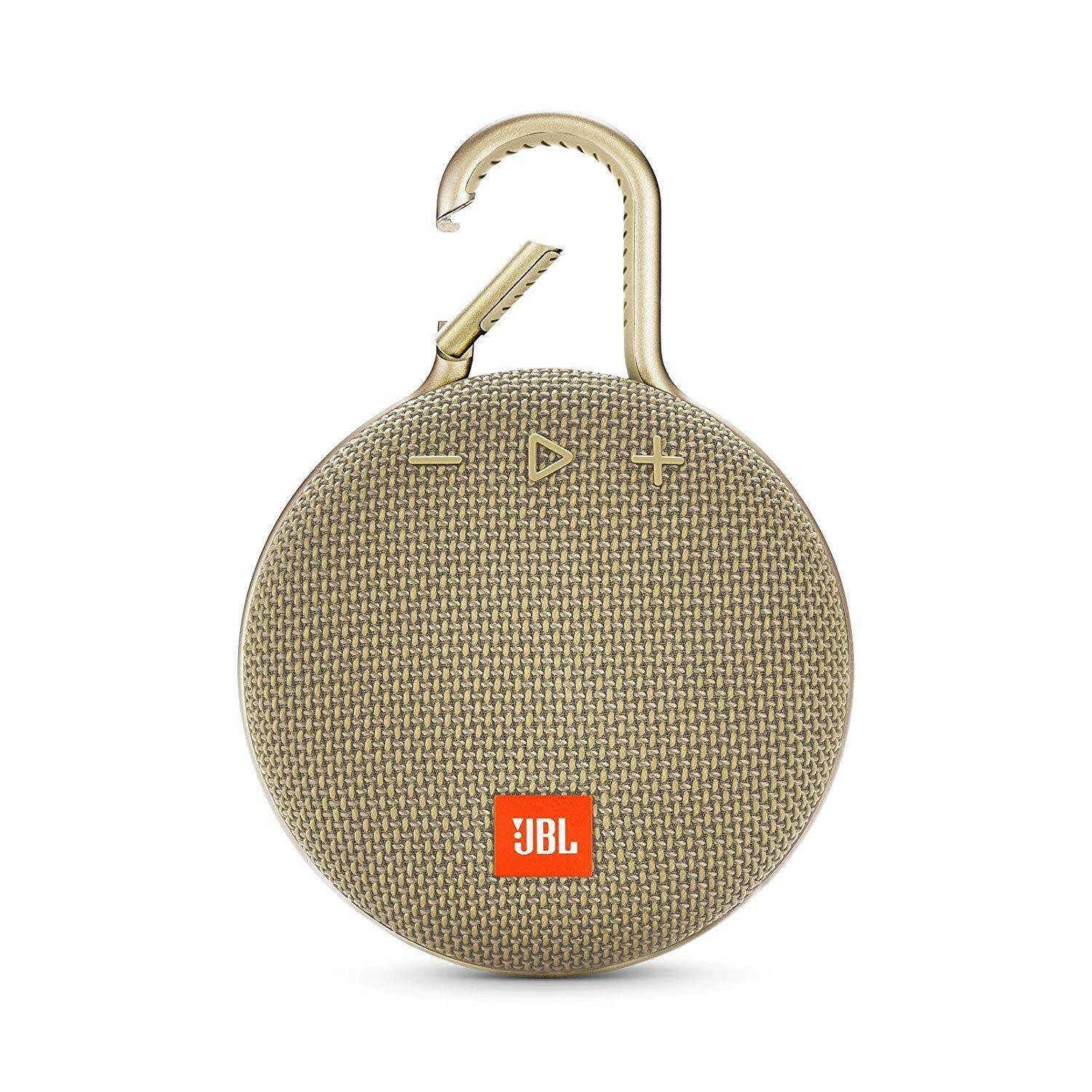JBL Clip 3 Portable Waterproof Wireless Bluetooth Speaker (Black/Grey/Green/Pink/Red/Sand/Teal/White/Yellow)