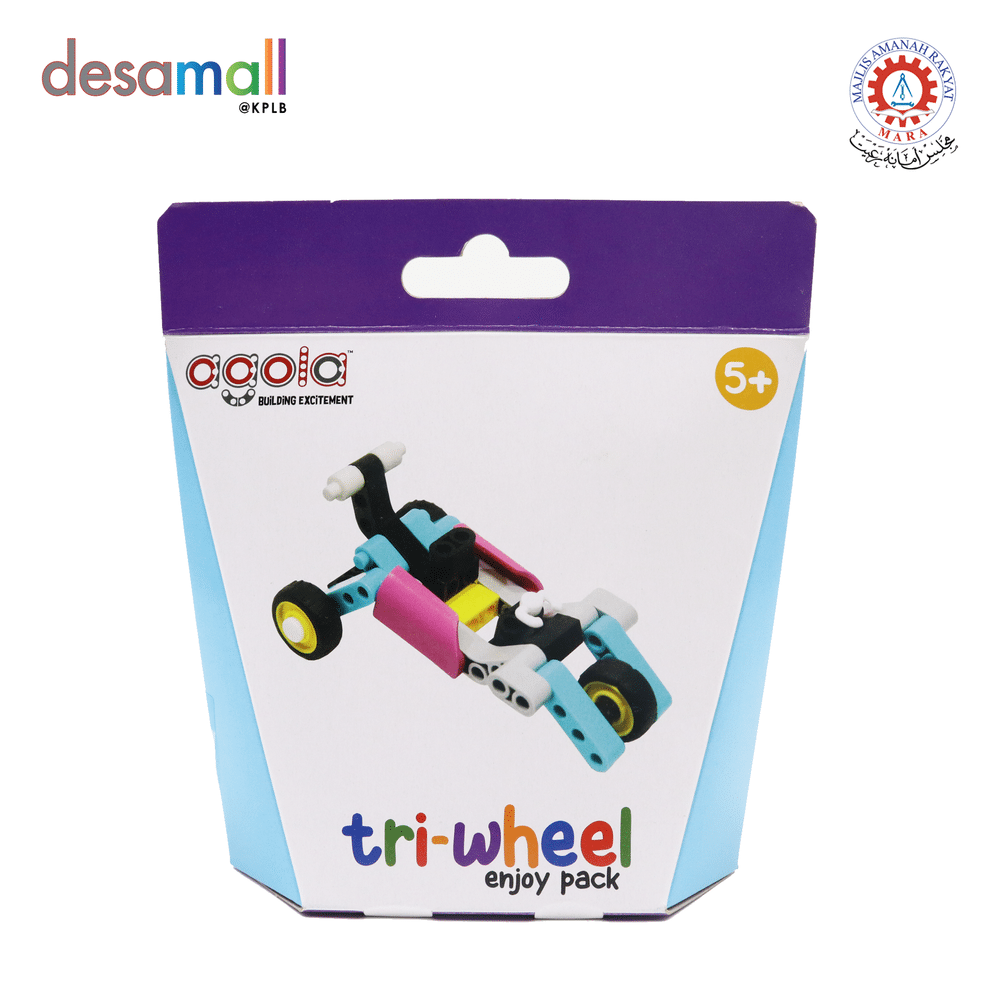 AGOLA Educational Building Block Toys Tri-Wheel Enjoy Pack
